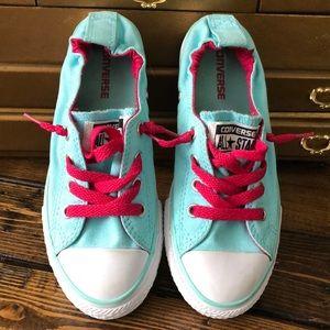 Converse All Star Girls Teal/Fuchsia Sneakers 1